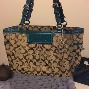 Real and brown Coach purse!